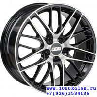 BBS CS002 8,0x18 5/112 ET40 d82 Satin Black Diamond Cut (0360254#)