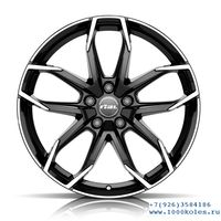 Rial Lucca 7,5x17 5/100 ET45 d57,1 Diamond Black Front Polished (LUC75745V73-1)
